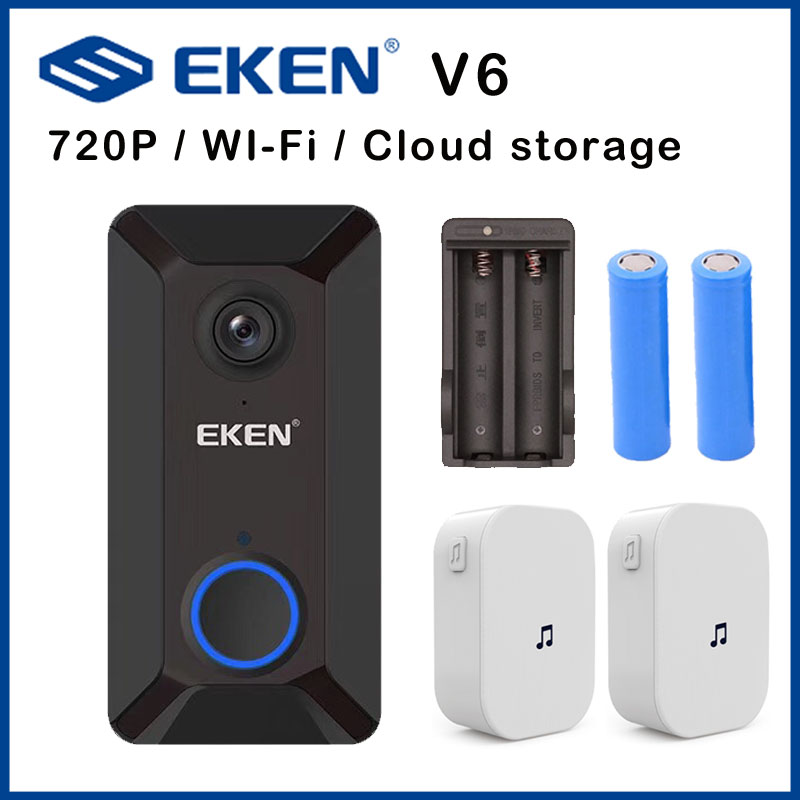 EKEN V6 Doorbell Camera Smart Wireless 720P Door Bell Camera Cloud Storage Ip Waterproof Home Ding Dong Security House Bell