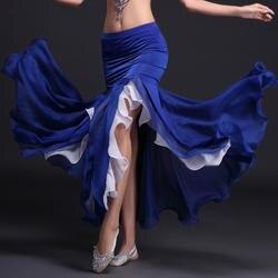 Живота Одежда для танцев 7 цветов Профессиональный юбка «рыбий хвост» юбки Для женщин завернутый юбка для танца живота дешевые
