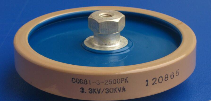 Round ceramics Porcelain high frequency machine  new original high voltage CCG81-3 2500PF-K 3.3KV 30KVA zvs high frequency induction heating 1800w high frequency machine without tap zvs