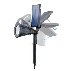 Image 2 - T SUNRISE Outdoor Lighting 4 LED Solar Powered Light Adjustable LED Solar Landscape Lamp for Garden RGB Color