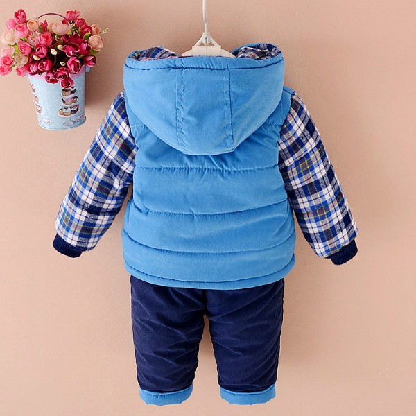 4a48e2db ... Baby Boys winter Clothing Set Down Parkas For Boy Warm Jacket Coats  Pants Two Pieces Bear ...