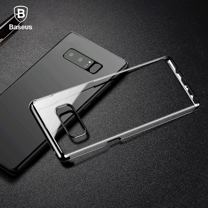 Baseus For Samsung Note 8 Case Luxury Plating Hard Plastic Fitted Case For Samsung Galaxy Note 8 Mobile Phone Cases