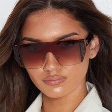 2019 Fashionable Oversized Square sunglasses women high qual