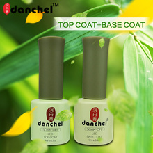 9ml Long Lasting No Clean Top Coat Acid Free Base Coat UV Gel Nail Polish Sealer Manicure Soak off Rubber Top Base Nail Primer