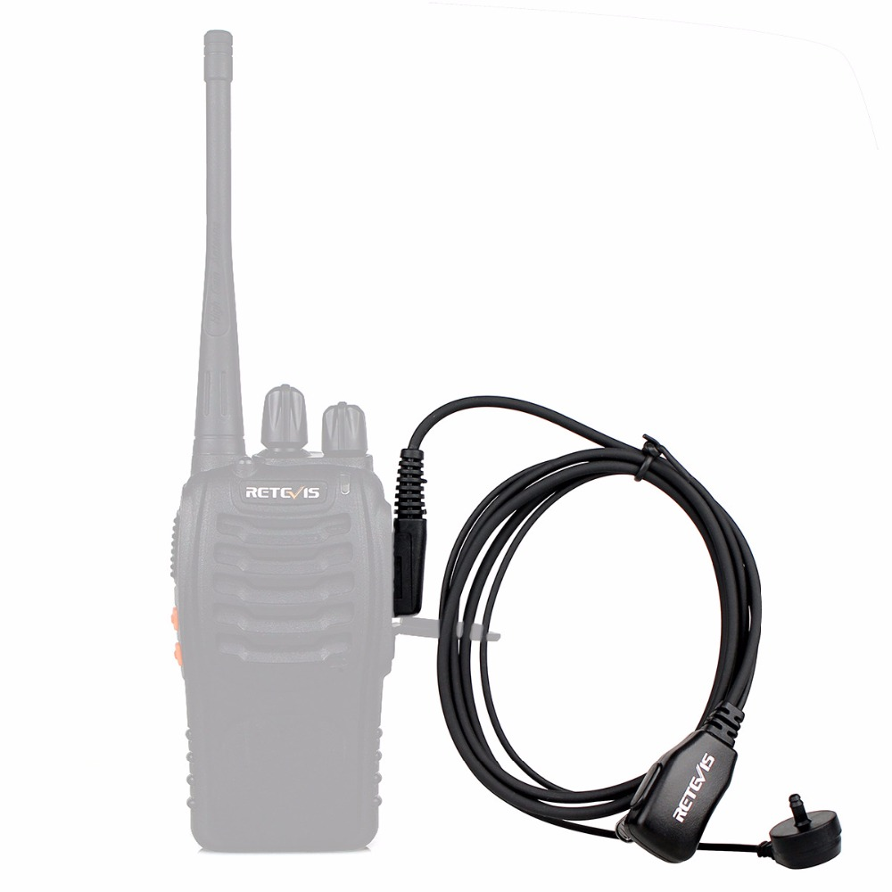 50pcs PTT MIC In-ear Earpiece Walkie Talkies Headset For Kenwood For Baofeng UV5R UV82 888S Retevis H777 RT22 For TYT For Puxing