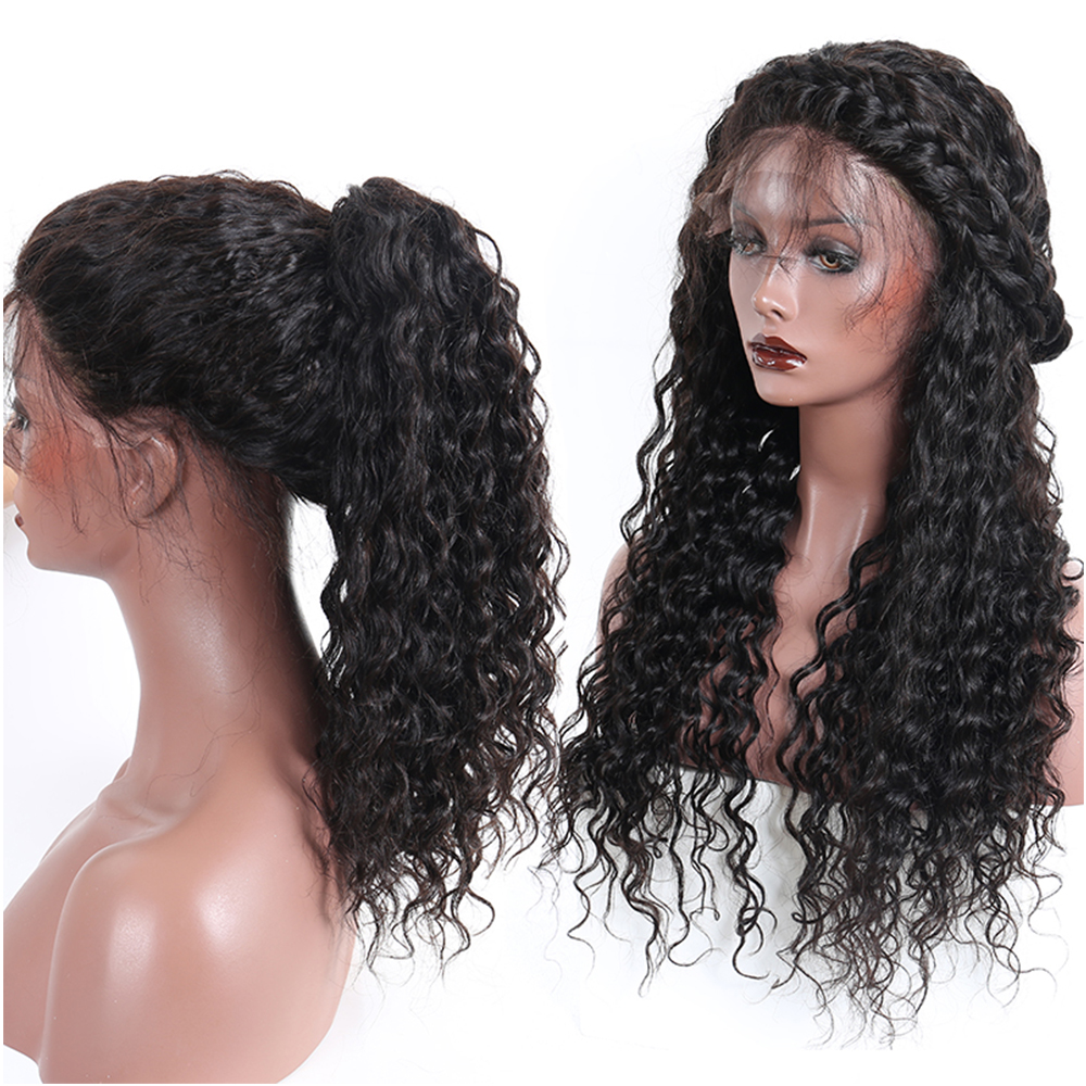 250% Loose Wave Lace Front Human Hair Parykker For Women Natural - Menneskehår (sort) - Foto 4