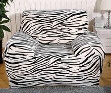 Spandex Stretch Zebra Sofa abdeckung Große Elastizität 100% Polyester Couch abdeckung Sofa SOFA Möbel Abdeckung