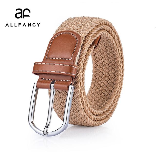 97dbe5268bd1 US $6.97 |Unisex woven elastic waist belt men and woman belt new leisure  All match belt 5 colour 3.5 wide for gift for men fashion belts-in Men's ...