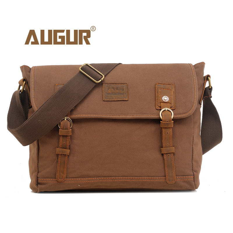 AUGUR 2018 Fashion Men Shoulder Bag Travel Satchel Bag male High quality Small Crossbody Bags Vintage Canvas Shoulder Bags augur fashion men s shoulder bag canvas leather belt vintage military male small messenger bag casual travel crossbody bags