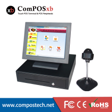 POS Retail All-in-one Station Complete Point of Sales System NEW POS System All in one Quad Core 2.0GHzTouch Screen 15″