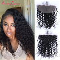 Peruvian Deep Wave Curly Lace Frontal Closure 13x6 Lace Frontal With Baby Hair Double Knots Human Hair Cosure Natural Hair Line
