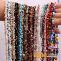 """Chips shape natural stone beads :Red Carnelian Red Coral  Lemon Stone Indian Agate Amazonite Strand 34"""" Free Shipping"""