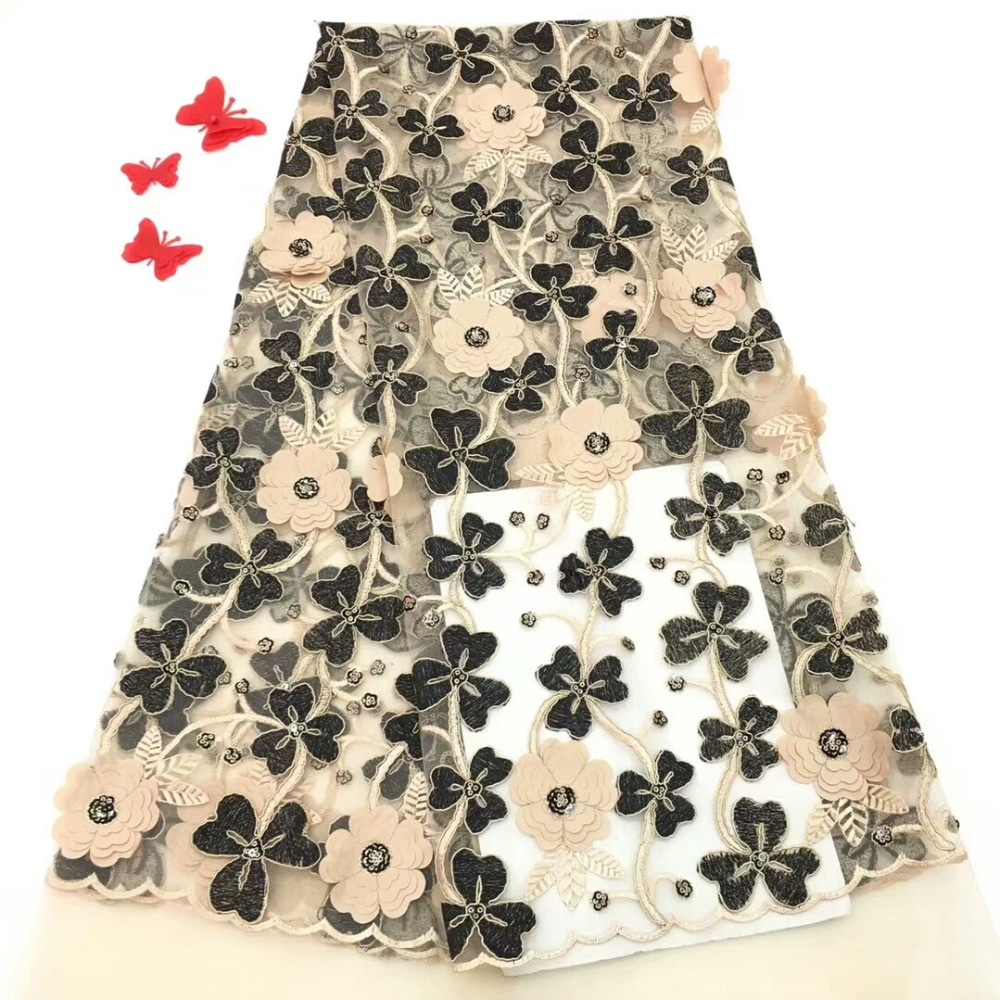 Newcoming 3D flowers design  african net tulle lace fabric beautiful african french lace fabric  for party dress  dpoc021Newcoming 3D flowers design  african net tulle lace fabric beautiful african french lace fabric  for party dress  dpoc021