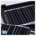 J B C D 8-13mm 12rows / Box High quality pure Hand made  Double layer 3D False eyelashes Personal Makeup Eyelashes RJC1201