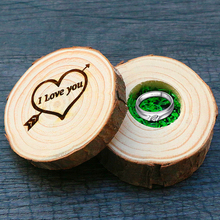 I LOVE YOU Jewelry Wedding Ring Earring Case Rustic Ring Box Wooden Wedding Ring Box Vintage Gift Suppliers Ring Bearer