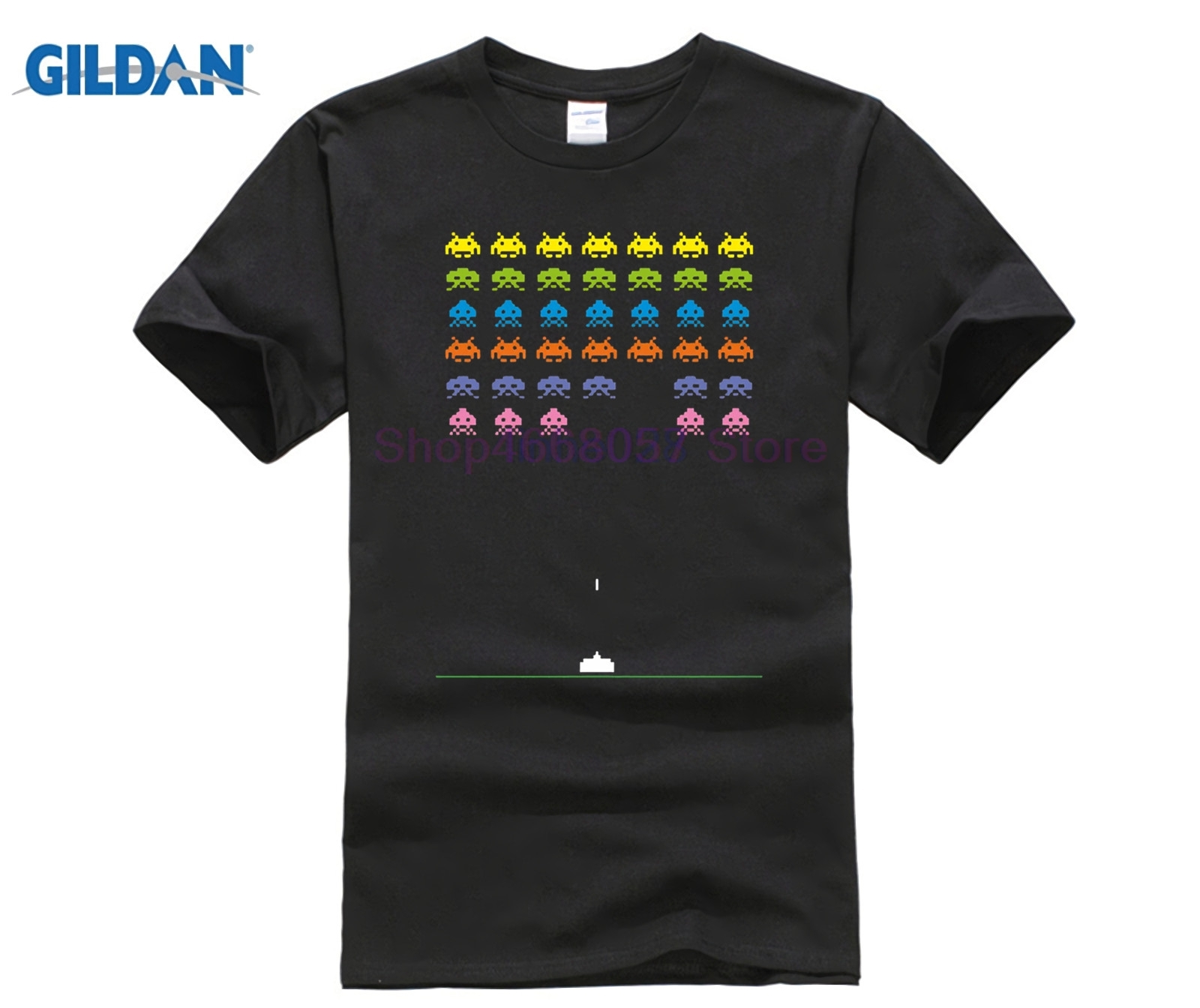 GILDAN Space Invaders   T     Shirt