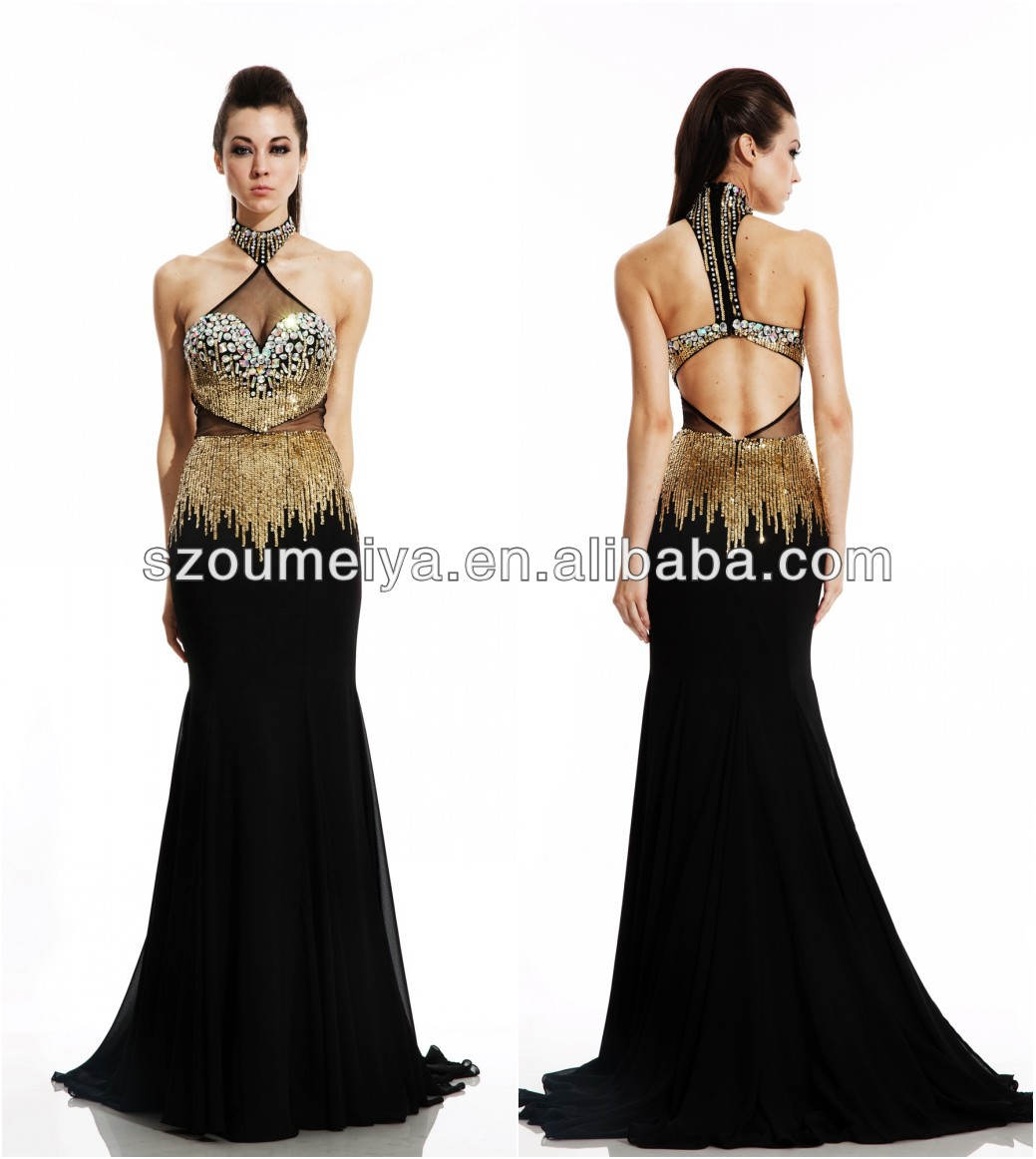 High Quality Black Gold Prom Dresses Promotion-Shop for High ...