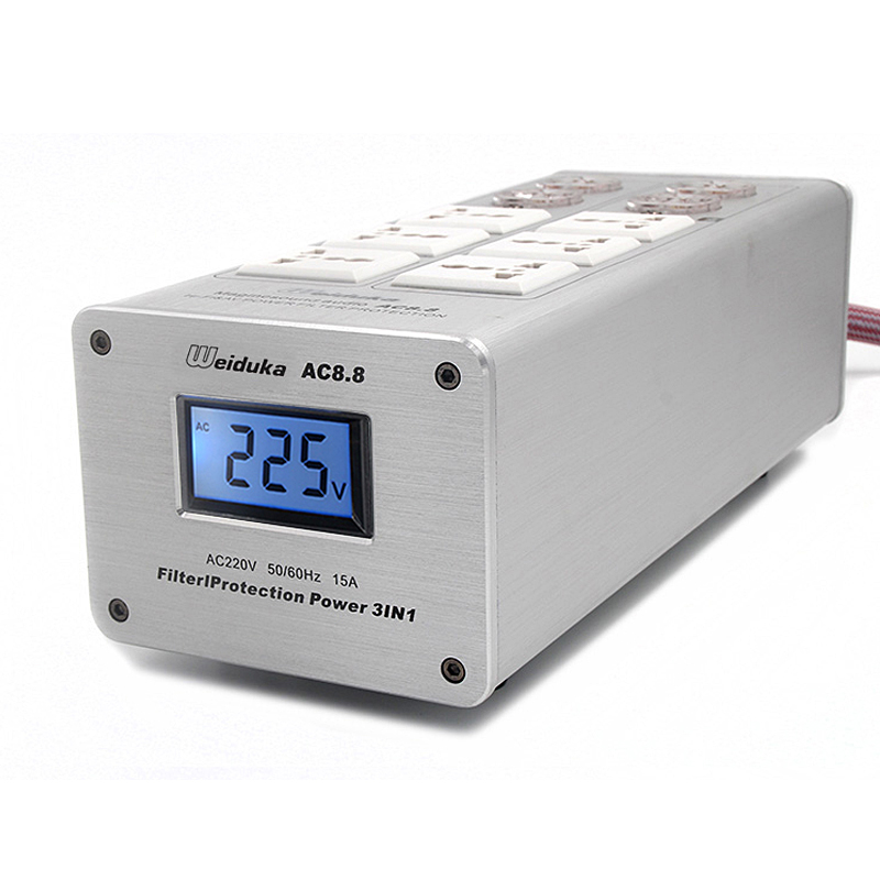 110-250V AC8.8 Advanced Audio Power Purifier Filter AC Power Socket 3000W 15A Y110-250V AC8.8 Advanced Audio Power Purifier Filter AC Power Socket 3000W 15A Y