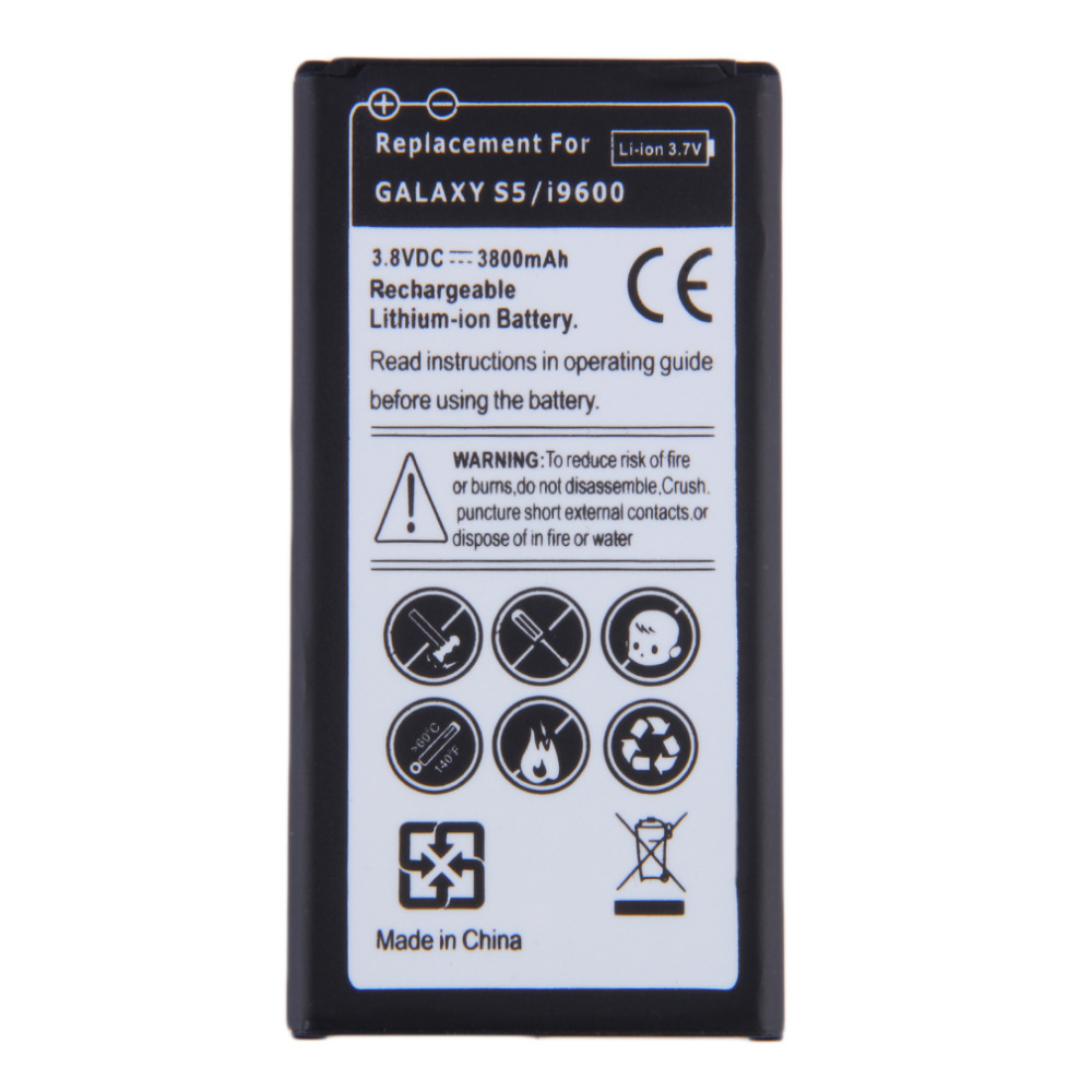 Replacement Li ion Battery Excellent Continuous Power For Samsung Galaxy S5 i9600 EB BG900BBE 3 8V