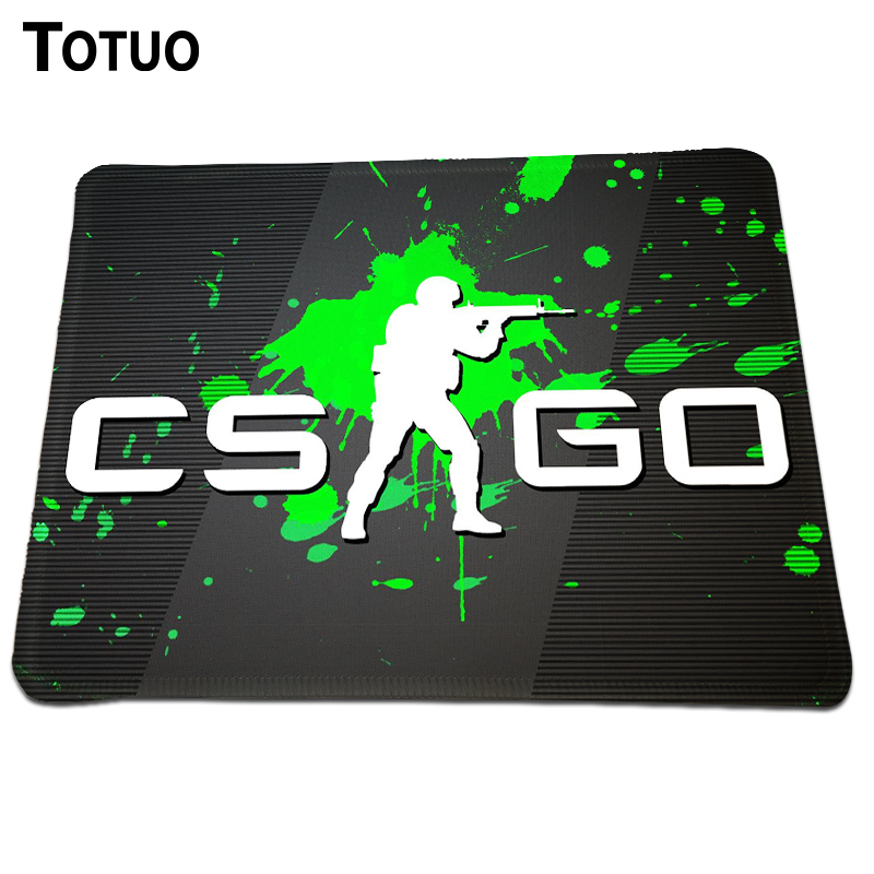 New brand cs go logo gaming mousepad locking edge computer for Cs go mouse
