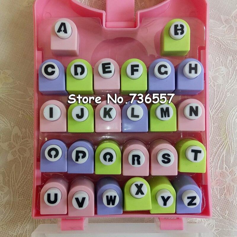 26 anglais lettre/alphabet artisanat perforateur ensemble, alphabet papier poinçon, douzaine fleur mettre en œuvre, coupe-papier