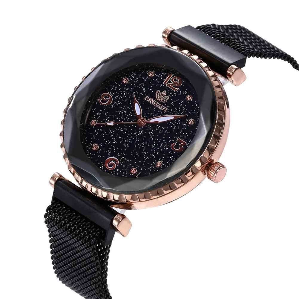 2019 новые модные женские наручные часы с магнитной пряжкой и сетчатым ремешком