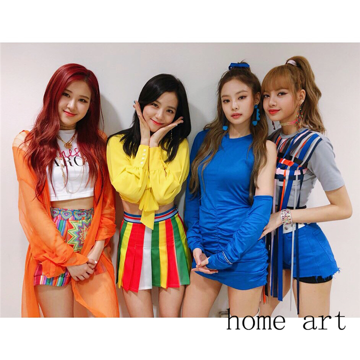 US $1 82 35% OFF|Blackpink Posters Wall Stickers Home Decoration High  Definition Bar Livingroom Bedroom Decoration-in Wall Stickers from Home &  Garden