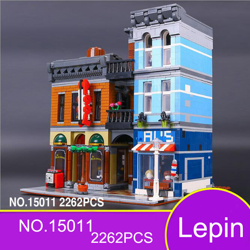 Lepin City Street Series Building Blocks Detective's Office Architecture Model 2262pcs Bricks Toys For Children Christmas Gifts hot sembo block compatible lepin architecture city building blocks led light bricks apple flagship store toys for children gift