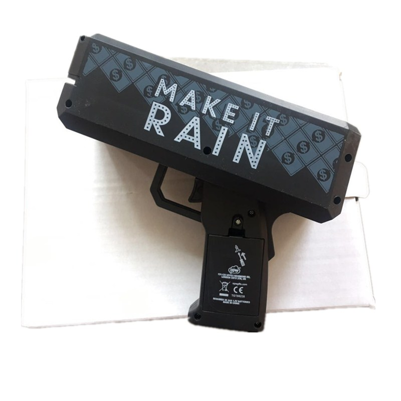Make It Rain Money Maker Black Gun Toy For Gift Party Toys Game 100PCS Cash Props Fashion  Toys Bubble Column For Package