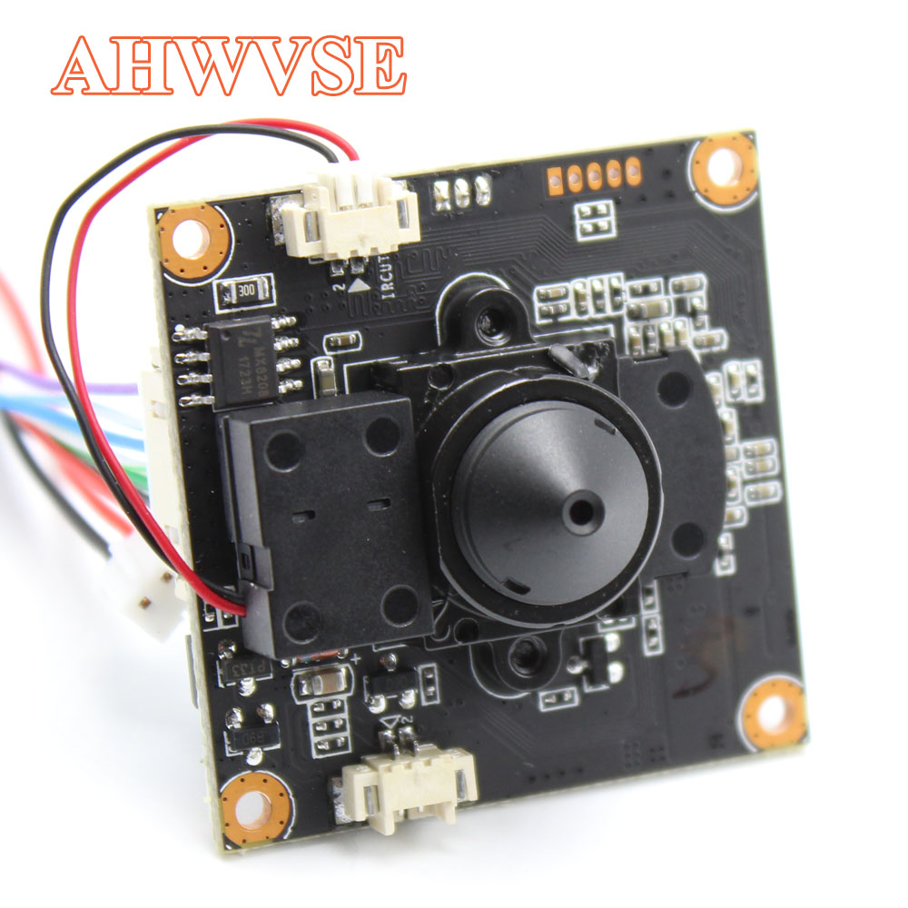 AHWVE Mini IP Camera module Board with IRCUT XMEYE for Dome Bullet DIY CCTV Camera 1080P 2MP ONVIF H264 Mobile 3.7mm Lens ONVIF