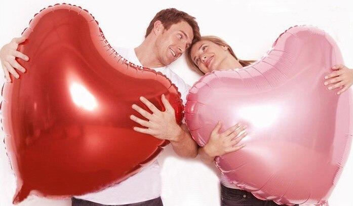 Düğün Dekorasyon Helyum Balonlar Büyük Kırmızı Kalp Shapped - Tatiller ve Partiler Için - Fotoğraf 3