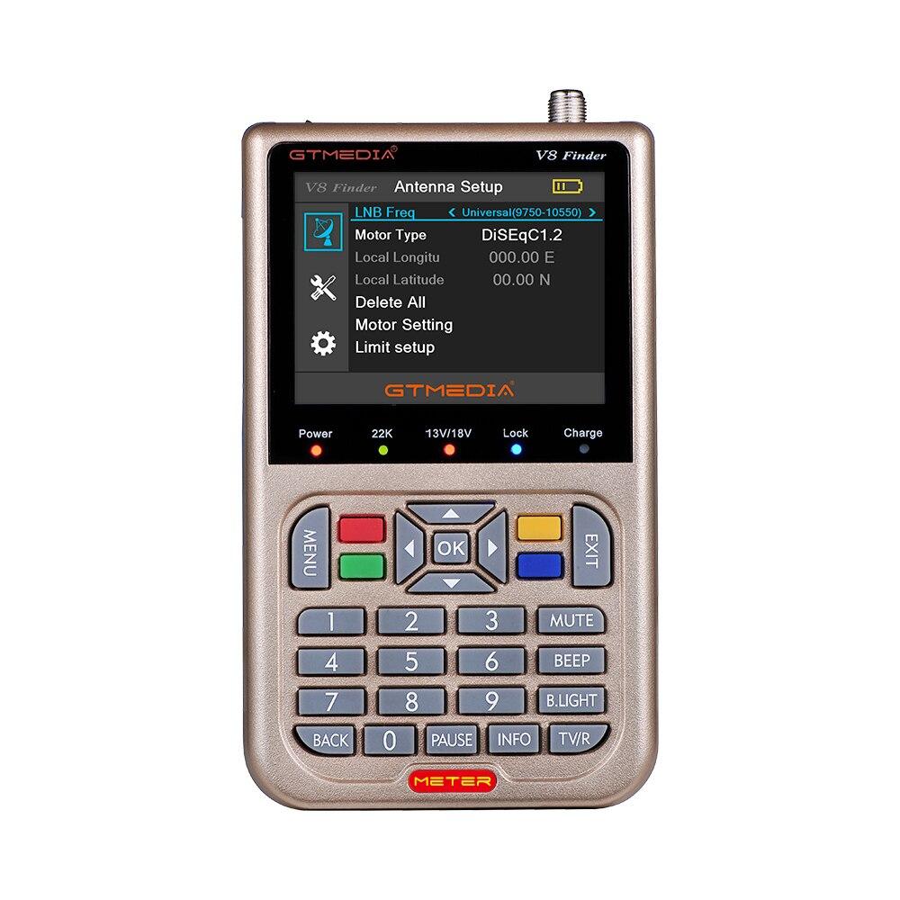 GTMEDIA V8 Finder Meter Satellite Finder Digital Definition Sat Finder DVB S2 S2X HD 1080P Satellite receiver Satfinder freesat in Satellite TV Receiver from Consumer Electronics