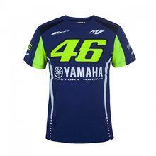 2017 valentino rossi vr46 t-shirt de la motocicleta para yamaha m1 moto gp azul hombres del algodón t-shirt