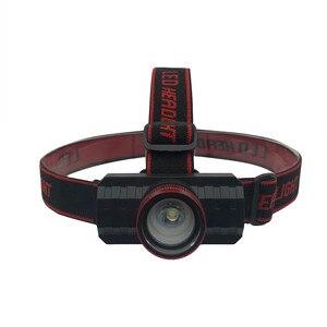 Image 2 - Yeni far USB şarj edilebilir kafa feneri zumlanabilir T6 LED 18650 far el feneri odaklama teleskopik far