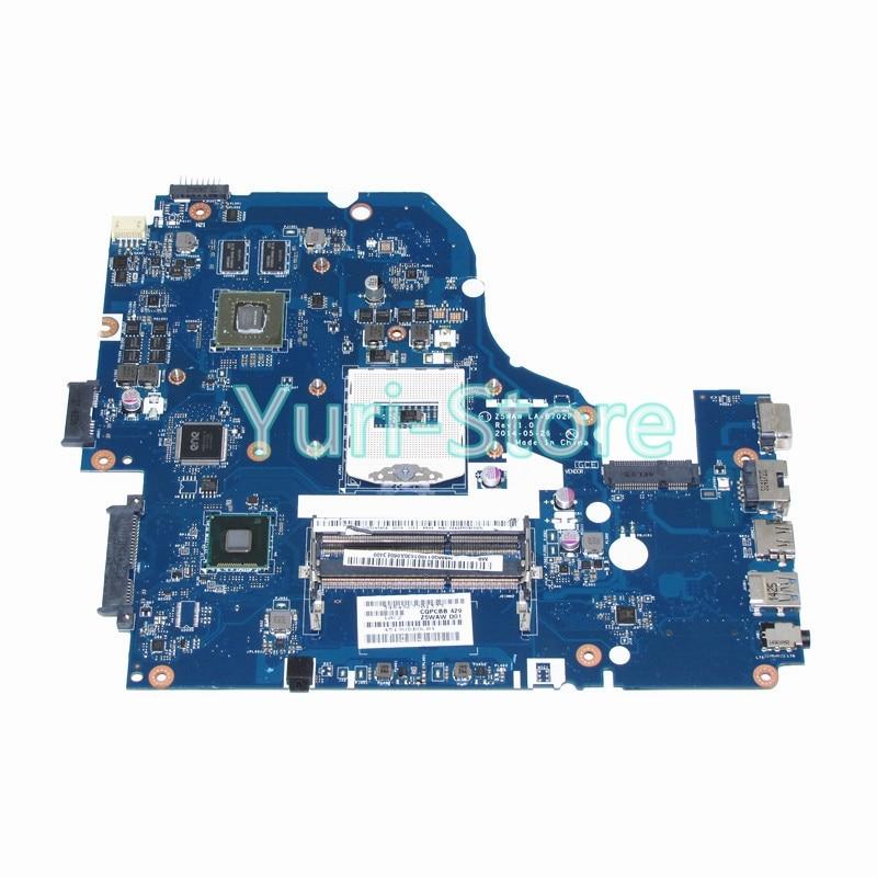 NOKOTION Z5WAW LA-B702P NBMQ011001 For Acer aspire E5-572G NB.MQ011.001 Main board DDR3 840M nokotion z5wae la b232p for acer aspire e5 521 laptop motherboard nbmlf11005 nb mlf11 005 ddr3