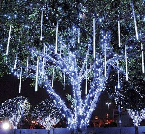 Christmas Lights That Look Like Water Falling.Us 13 65 9 Off Meteor Shower Rain Tubes 30 50cm Waterproof Falling Star Rain Drop Led Xmas Tree Holiday Lights Wedding Xmas Decoration 100 240v In