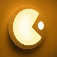 ABS LED Creative Bedroom Corridor Intelligent Night Light Body Sensor Night Light Light Control Soft Light