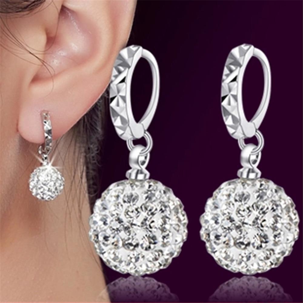 Ապրանքներ արծաթե ականջողներ Shambhala շքեղ ցիրկոնիա ականջօղեր կին հանրաճանաչ բնօրինակ ապրանքանիշ բարձրորակ vintage գամասեղներ ականջողներ Թեժ