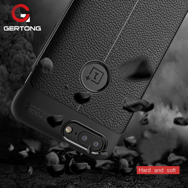 GerTong High Quality Fitted Case For Oneplus 5 T 5T 3T 3 1+5 Shockproof Armor For Oneplus 5T Cases Leather Texture Fundas Conque