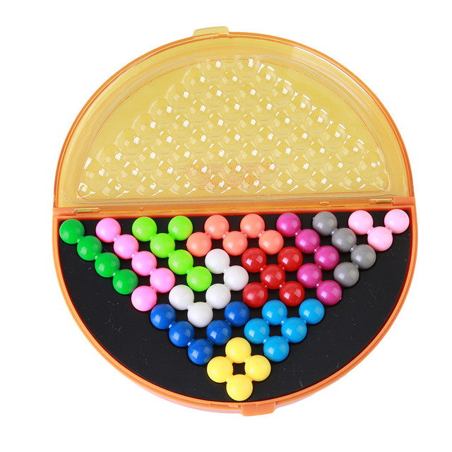 Классические головоломки Пирамида пластина IQ жемчуг логический ум игра логический Головоломка Развивающие игрушки для детей пирамидальные бусины головоломка MU838744