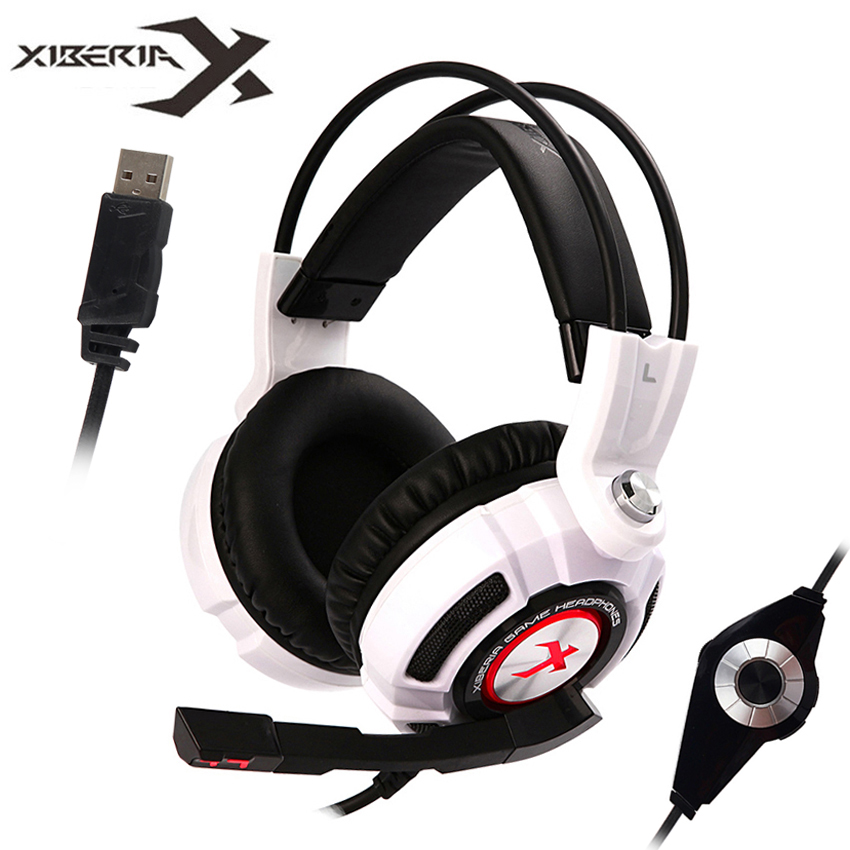 XIBERIA PC Gaming Headset Virtual 7.1 Surround Sound Stereo Bass Game H
