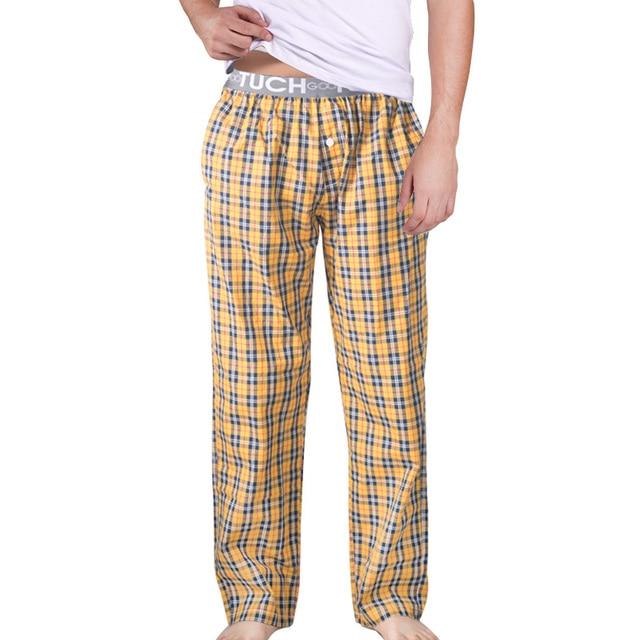 Hot Sale Men's Sleep Bottoms Pajama Pants Men Underwear Trousers Plaid Mens Lounge Pants Pantalon Piyamas Jovenes Pijama G 2505