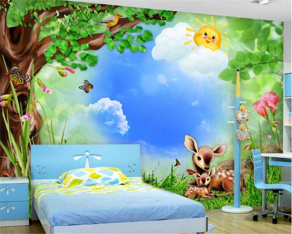 Ungewöhnlich Fototapete Kinderzimmer Wald Galerie - Die Designideen ...