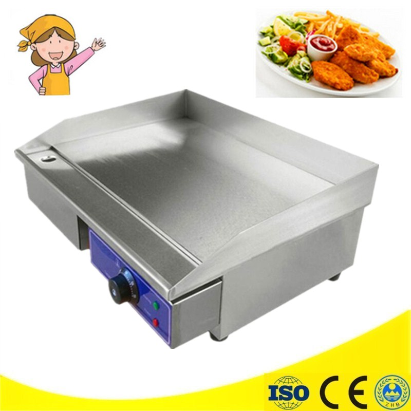 Commercial 220V/3000W Non-stick Plate Steak Sandwich Toaster Machine Electric Griddle Grill Electric Contact Grill