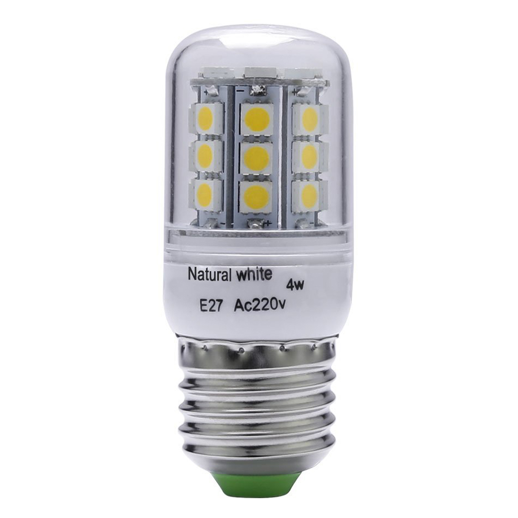 4W, 40W Halogen Bulb Equivalent, E27, 300Lumens, 30pcs SMD5050, White, 4500K LED Corn light Bulb Indoor Bar Lighting