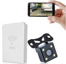 Обновления WI-FI в авто резервного заднего вида Камера vechile беспроводные камеры HD для Android устройства iOS для любого Тюнинг автомобилей 12 В