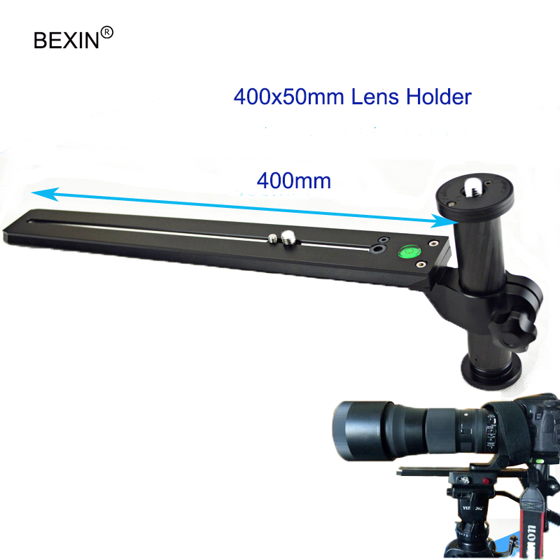 Telephoto Lens Support Bracket Holder with 400mm Long Rail Quick Release Plate 1/4
