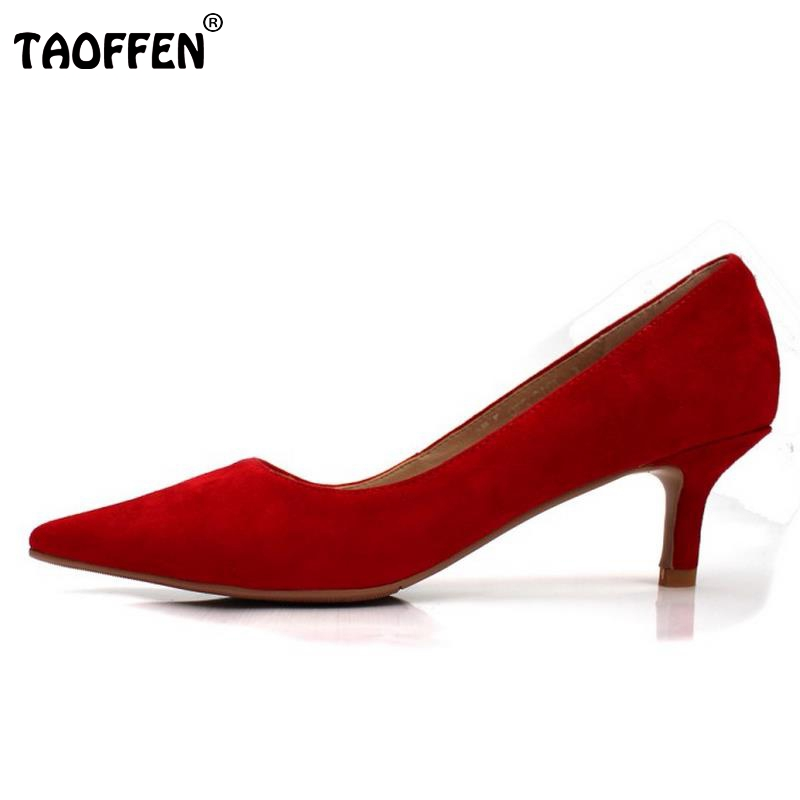 7 Colors Women Real Leather High Heels Shoes Women Brand Pumps Pointed Toe Wedding Party Slip-On Shoes Lady Footwear Size 34-39