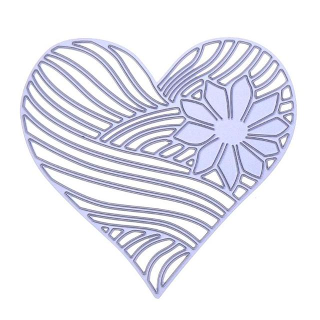 1pcs heart flower metal cutting dies embossing template for