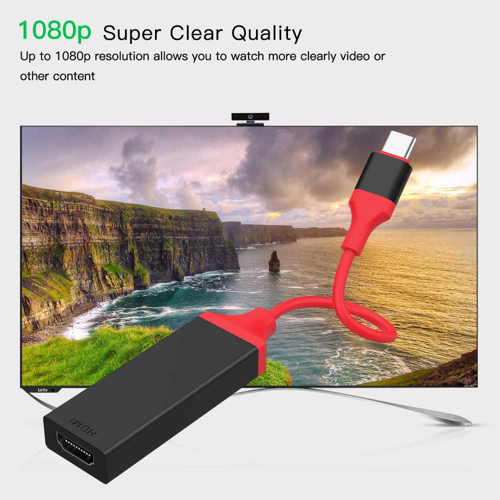 USB C محول HDMI نوع C الصاعقة 3 إلى HDMI 4K لسامسونج غالاكسي S9 هواوي زميله 20/P20 برو USB C الذكور إلى الإناث HDMI كابل